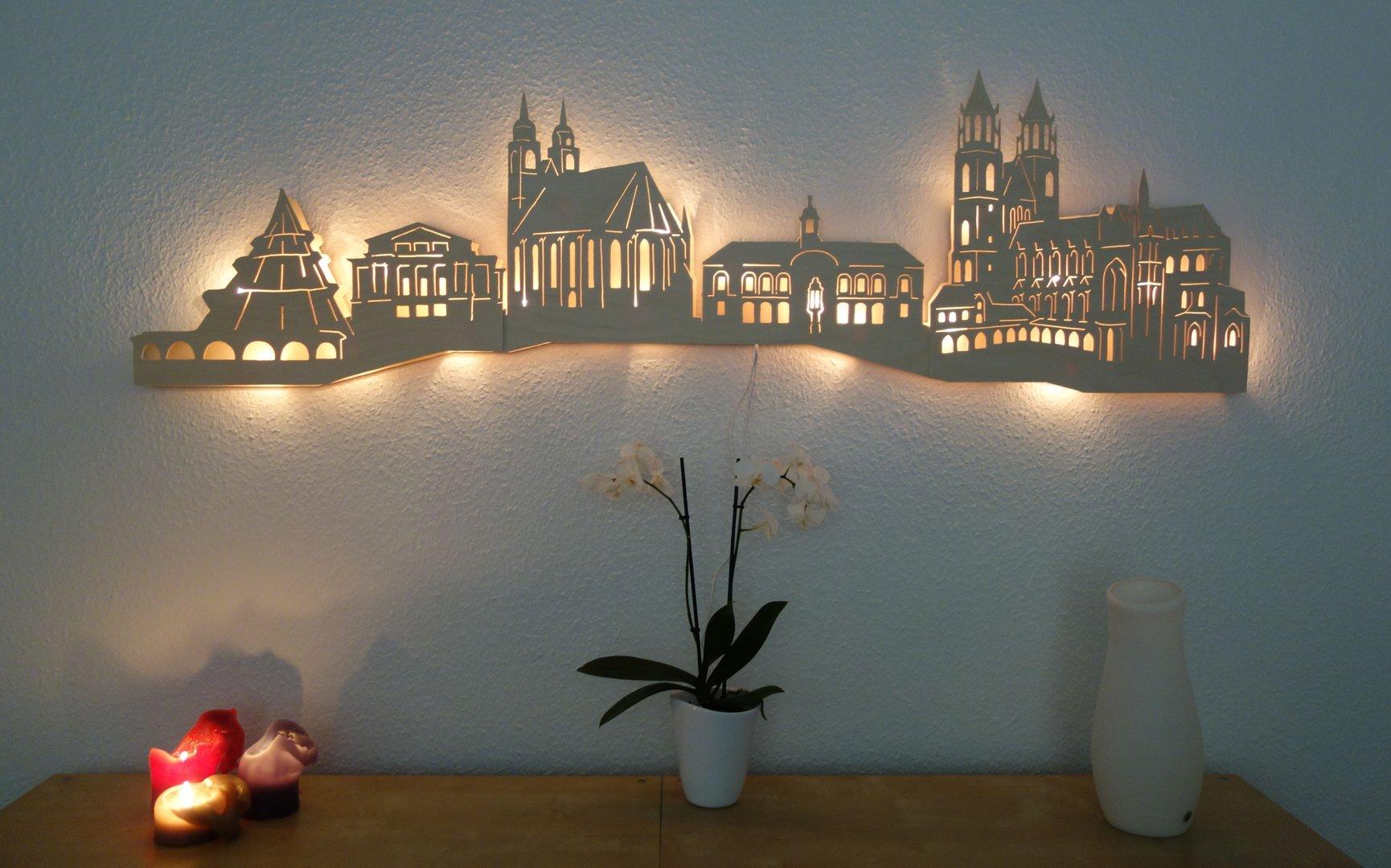 wandskyline magdeburg kunsthandwerk karste. Black Bedroom Furniture Sets. Home Design Ideas
